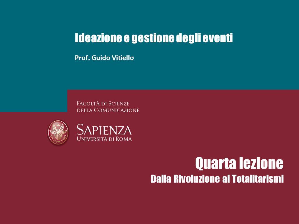 Ideazione e gestione degli eventi Prof. Guido Vitiello