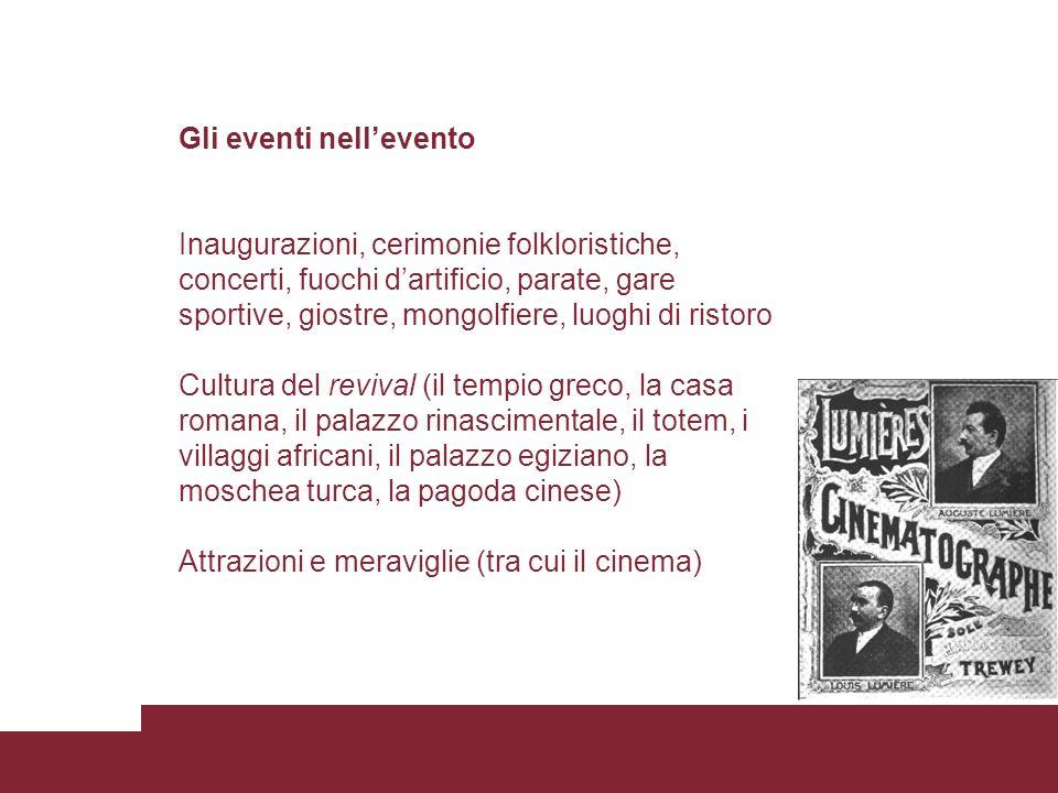 Gli eventi nell'evento