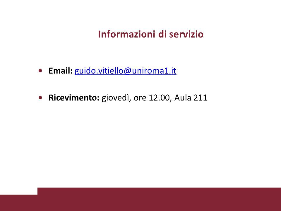 Informazioni di servizio
