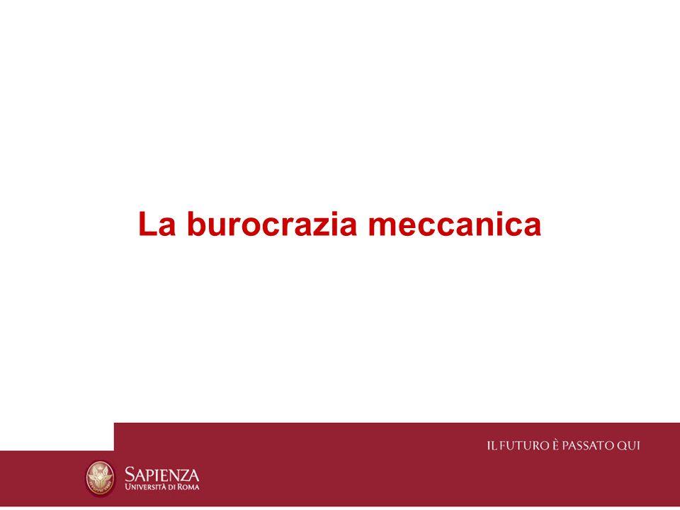 La burocrazia meccanica