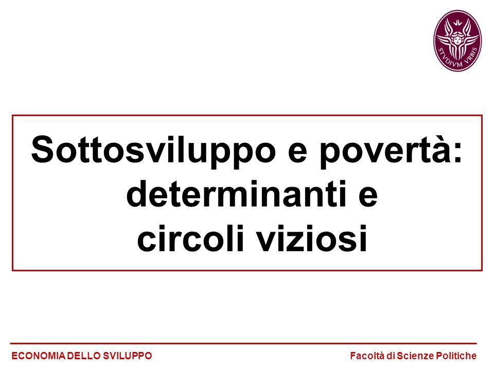 Sottosviluppo e povertà: determinanti e circoli viziosi