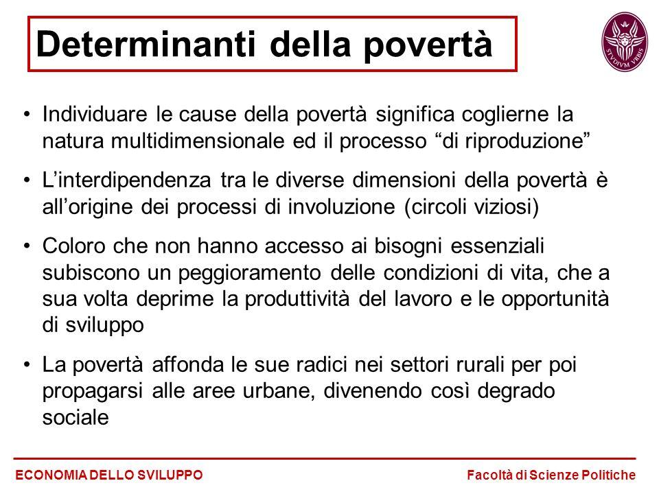 Determinanti della povertà