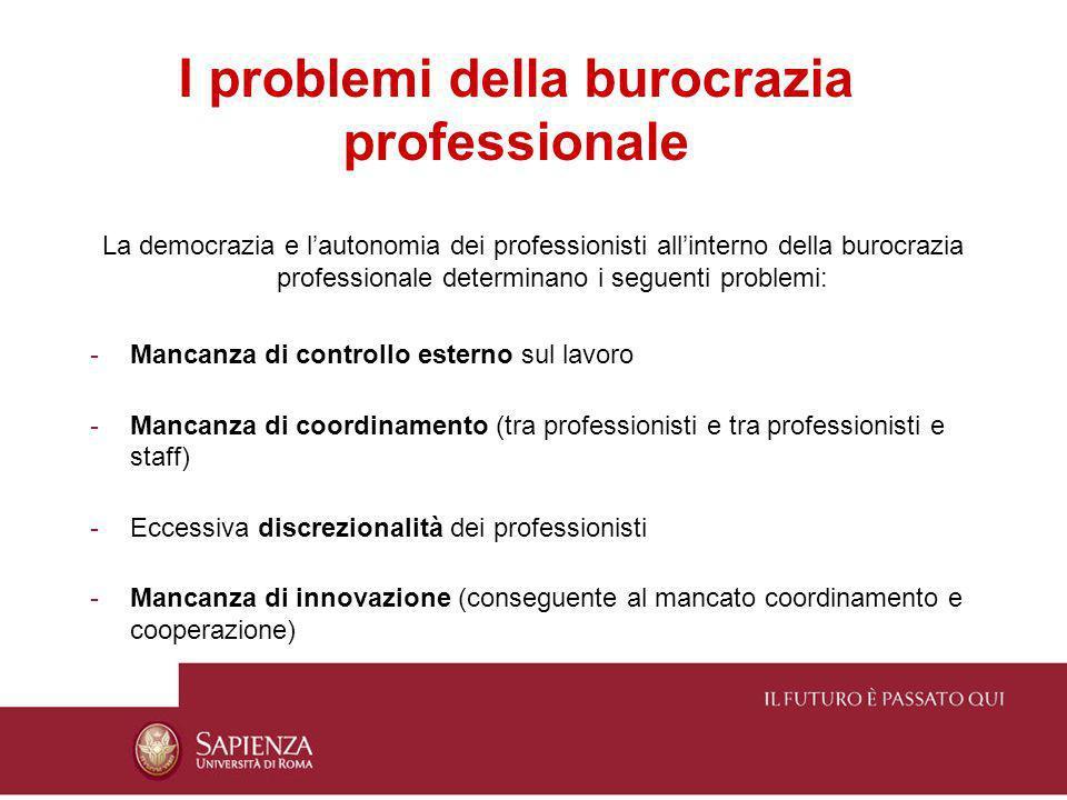 I problemi della burocrazia professionale