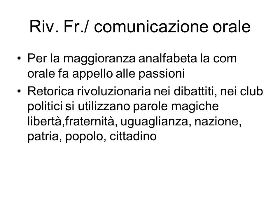 Riv. Fr./ comunicazione orale