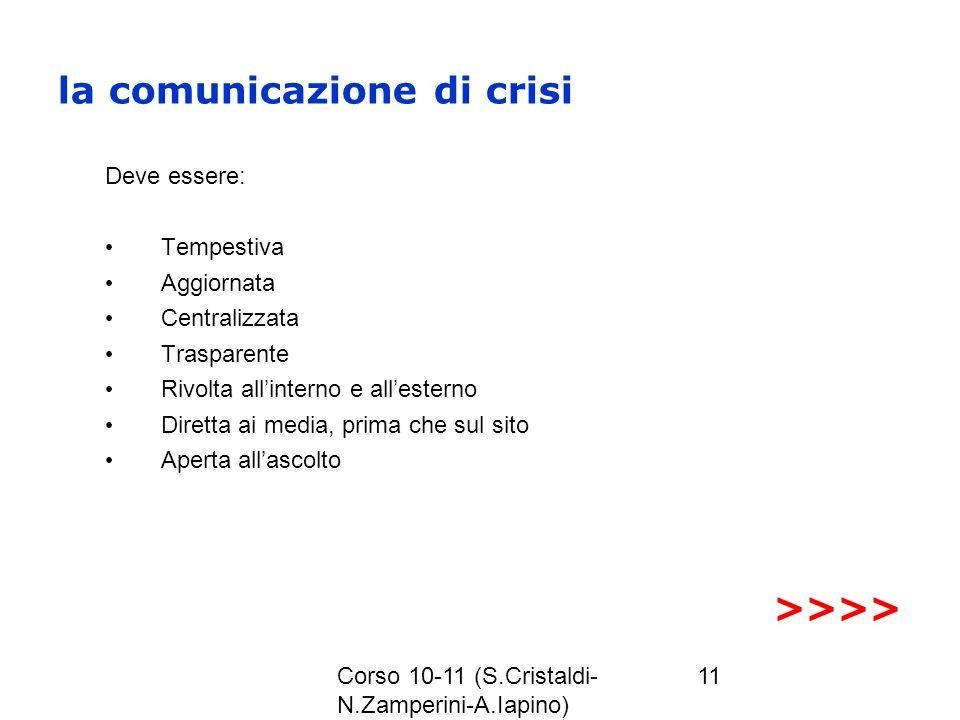 la comunicazione di crisi