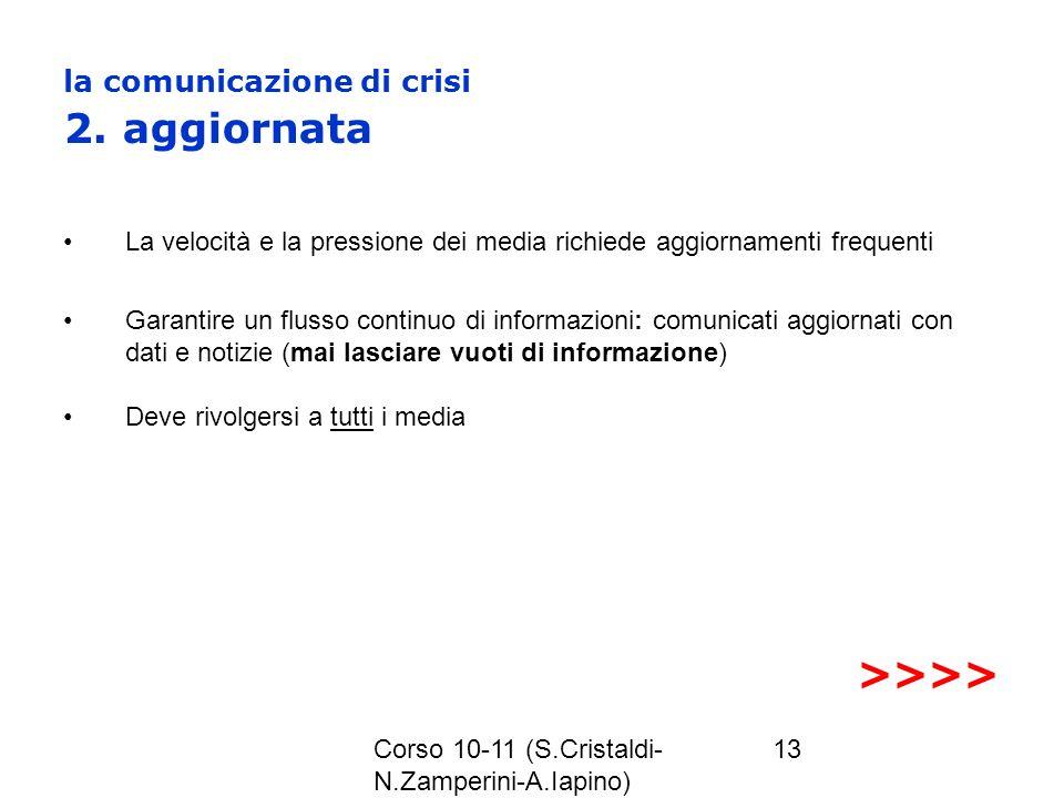 la comunicazione di crisi 2. aggiornata