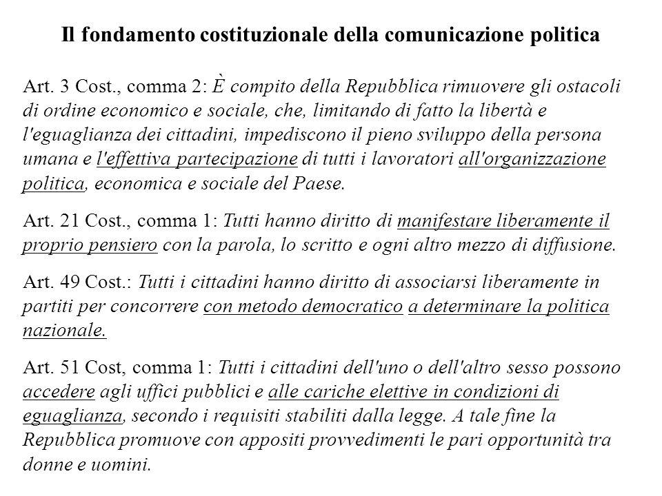 Il fondamento costituzionale della comunicazione politica