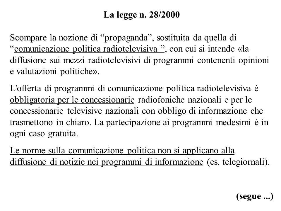 La legge n. 28/2000