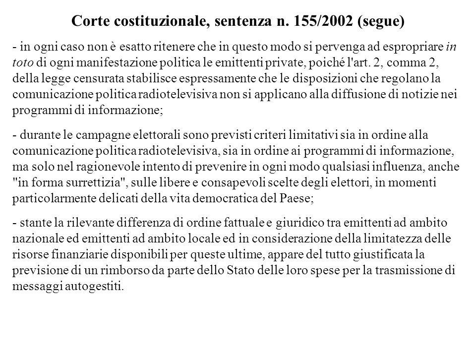 Corte costituzionale, sentenza n. 155/2002 (segue)
