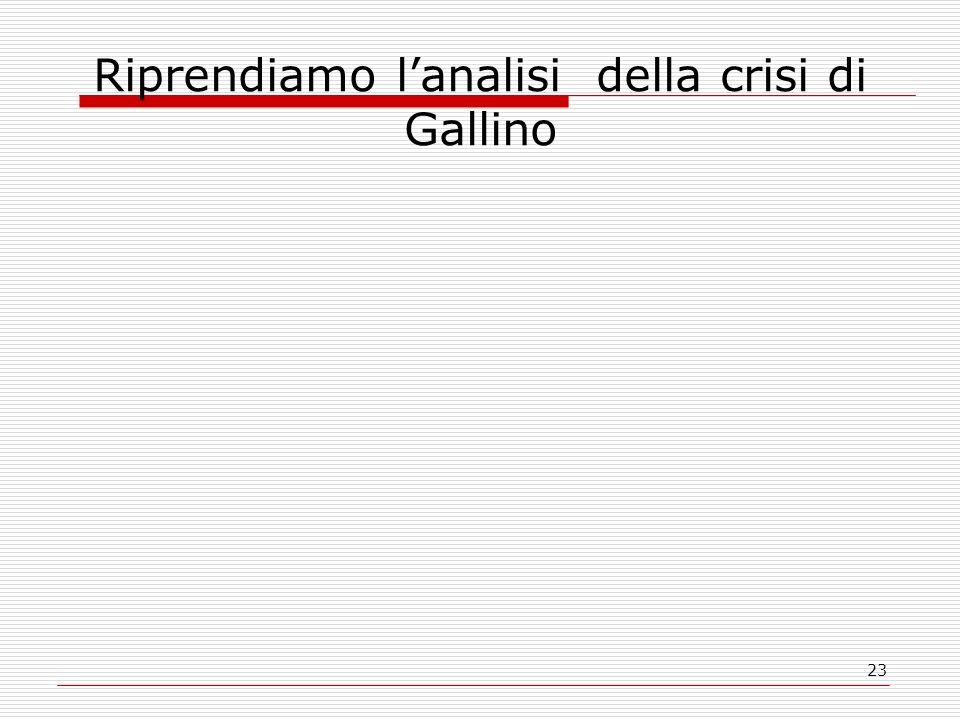 Riprendiamo l'analisi della crisi di Gallino