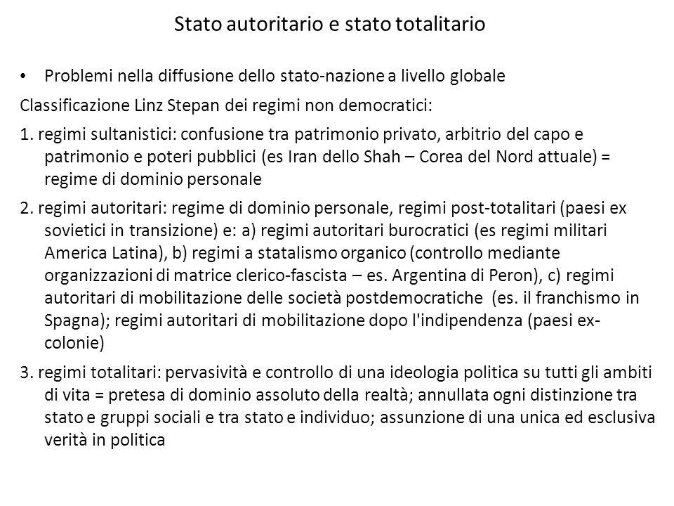 Stato autoritario e stato totalitario