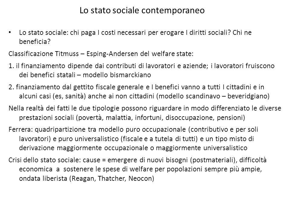 Lo stato sociale contemporaneo