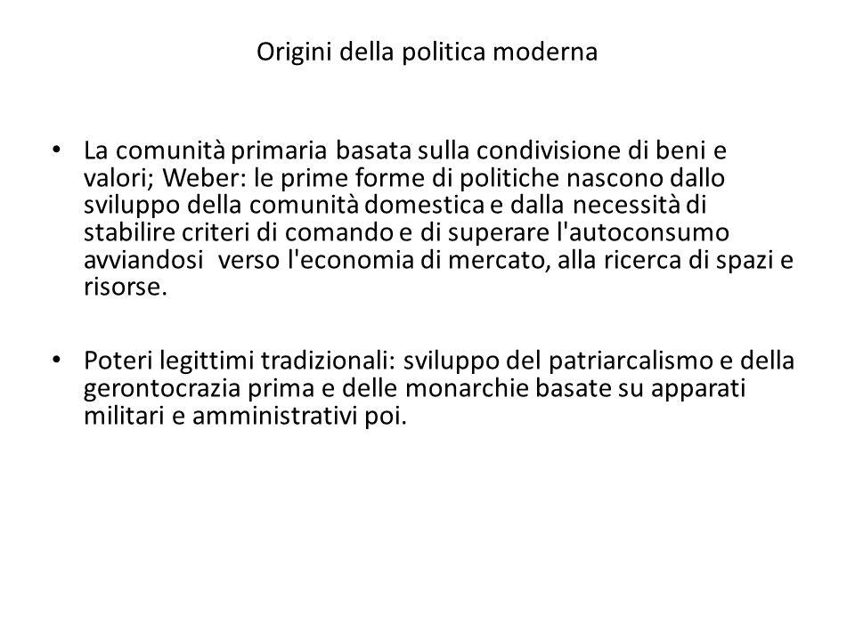 Origini della politica moderna