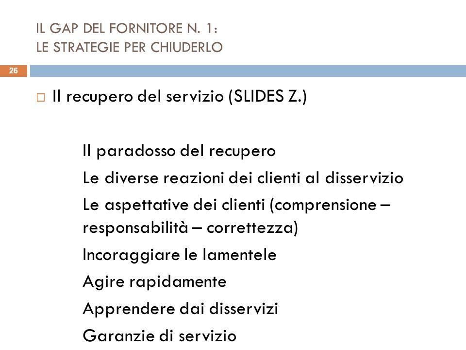 IL GAP DEL FORNITORE N. 1: LE STRATEGIE PER CHIUDERLO