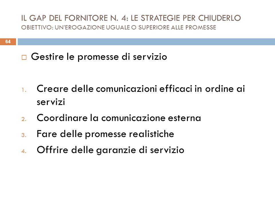 Gestire le promesse di servizio