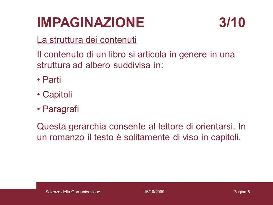 IMPAGINAZIONE 3/10 La struttura dei contenuti