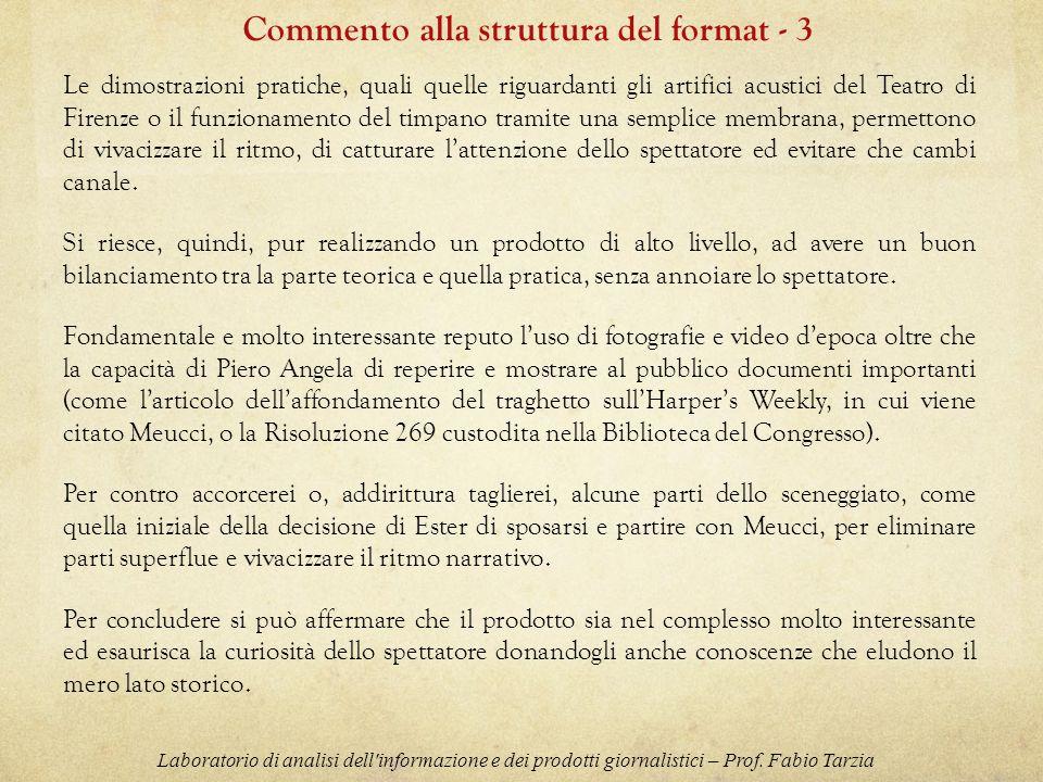 Commento alla struttura del format - 3