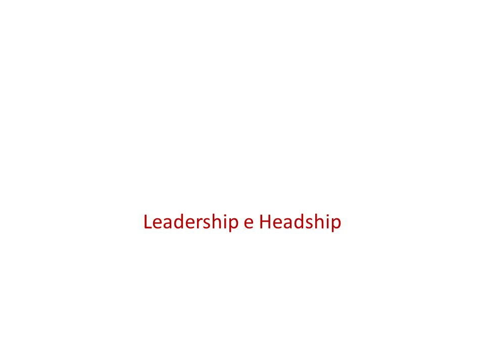 Leadership e Headship