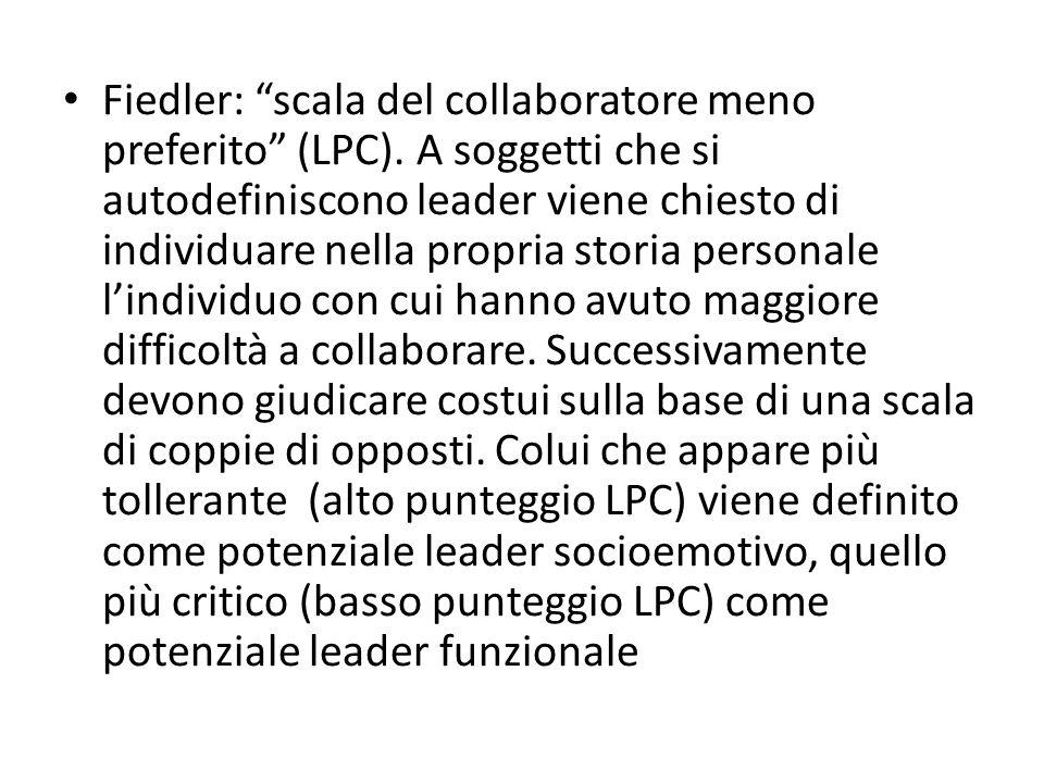 Fiedler: scala del collaboratore meno preferito (LPC)