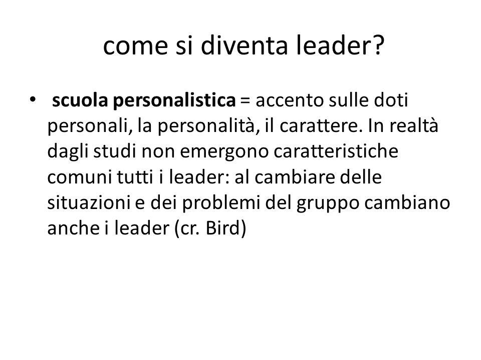 come si diventa leader