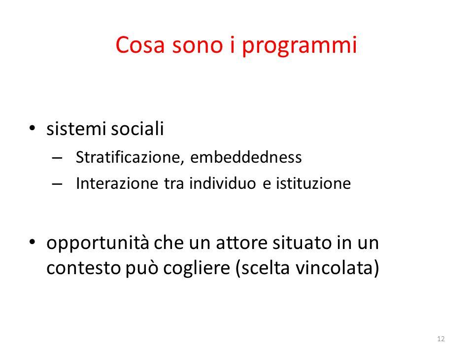 Cosa sono i programmi sistemi sociali