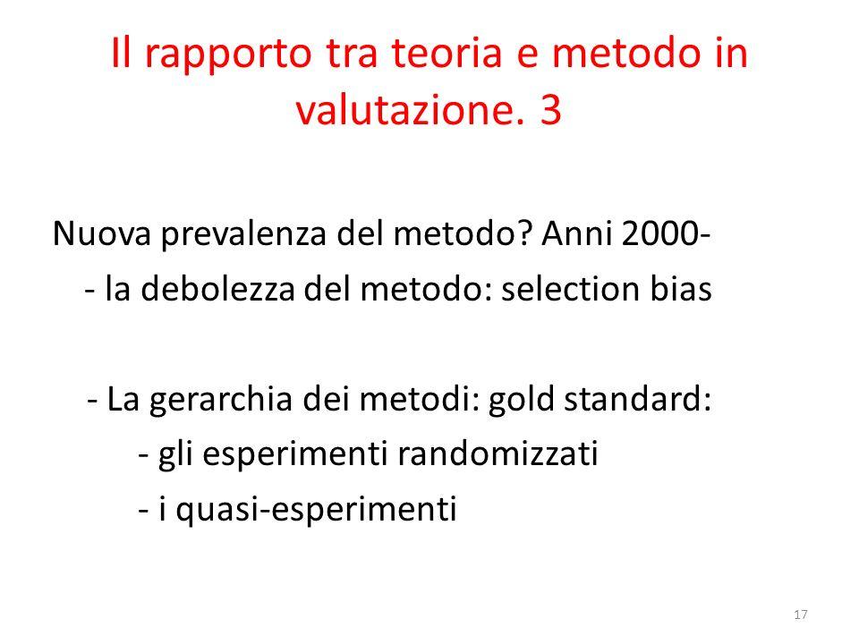 Il rapporto tra teoria e metodo in valutazione. 3