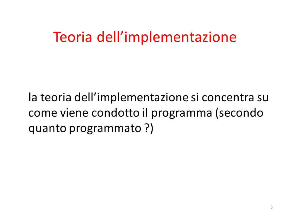 Teoria dell'implementazione