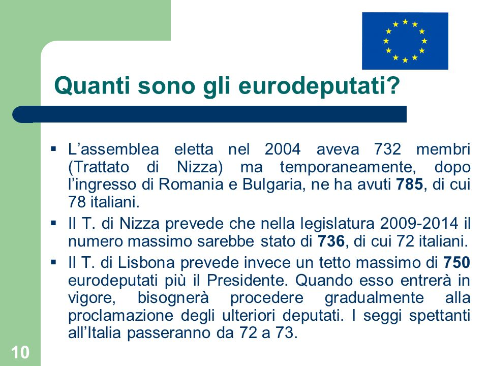 Quanti sono gli eurodeputati