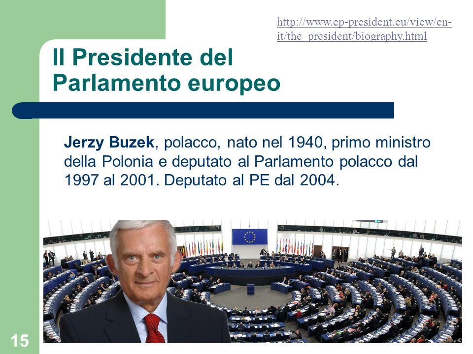 Il Presidente del Parlamento europeo