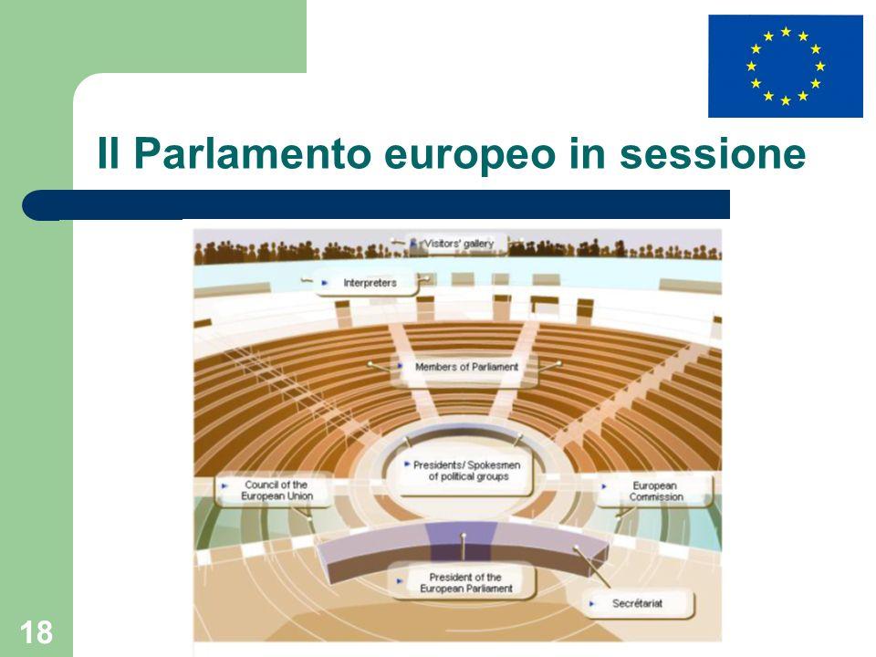 Il Parlamento europeo in sessione