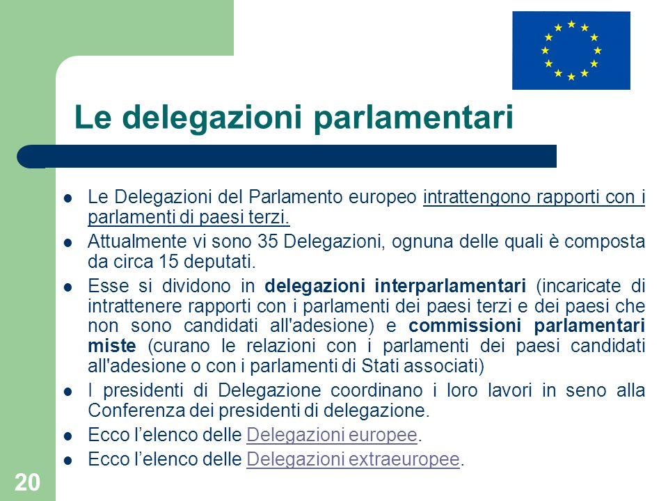 Le delegazioni parlamentari