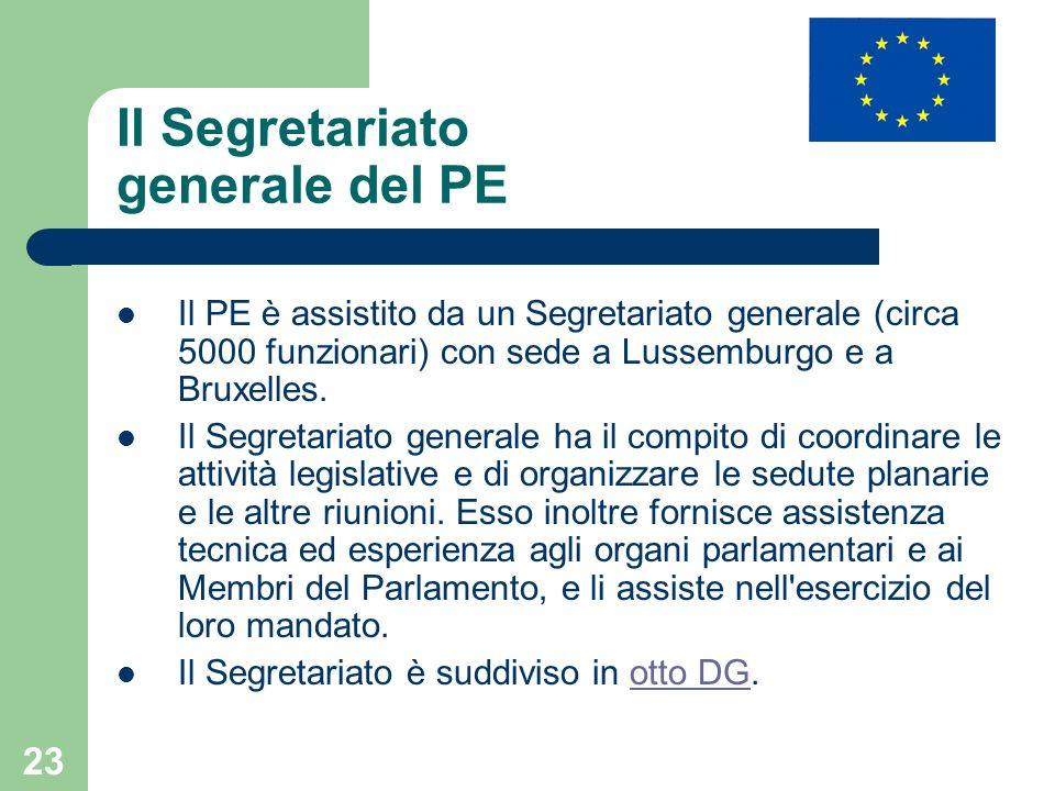 Il Segretariato generale del PE