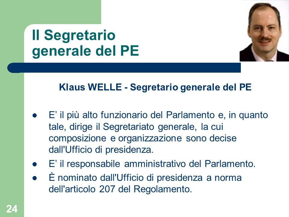 Il Segretario generale del PE