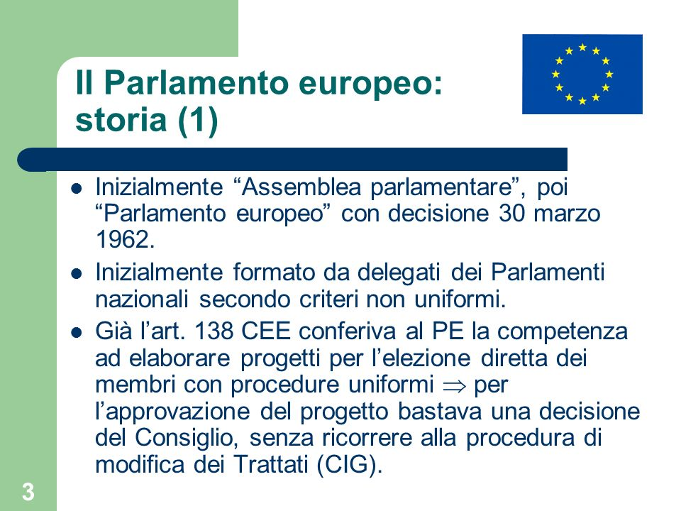 Il Parlamento europeo: storia (1)
