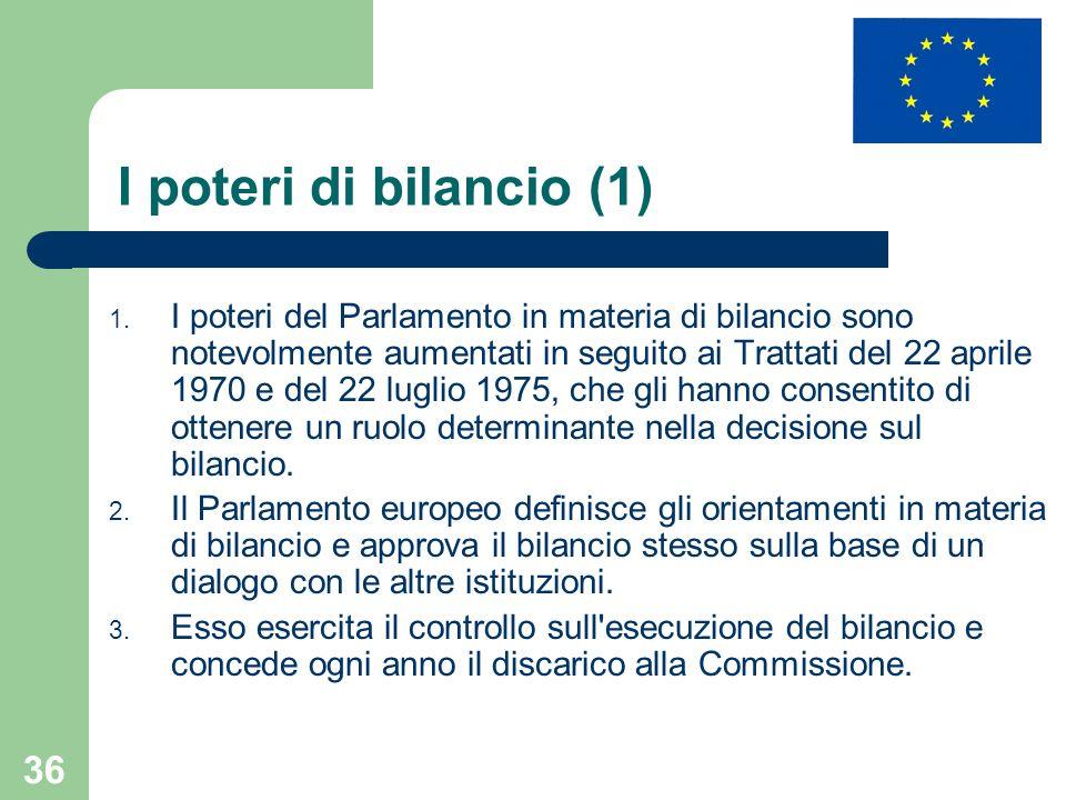 I poteri di bilancio (1)