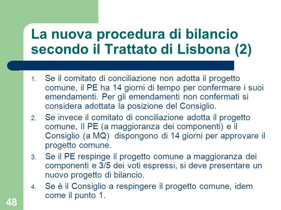 La nuova procedura di bilancio secondo il Trattato di Lisbona (2)