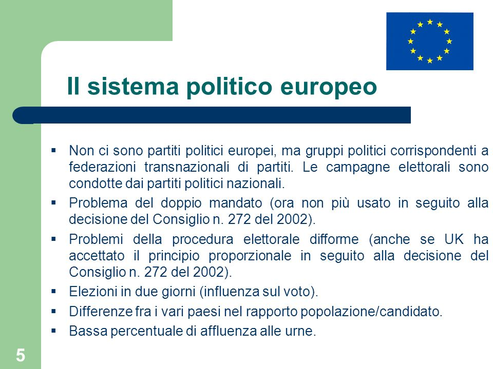 Il sistema politico europeo