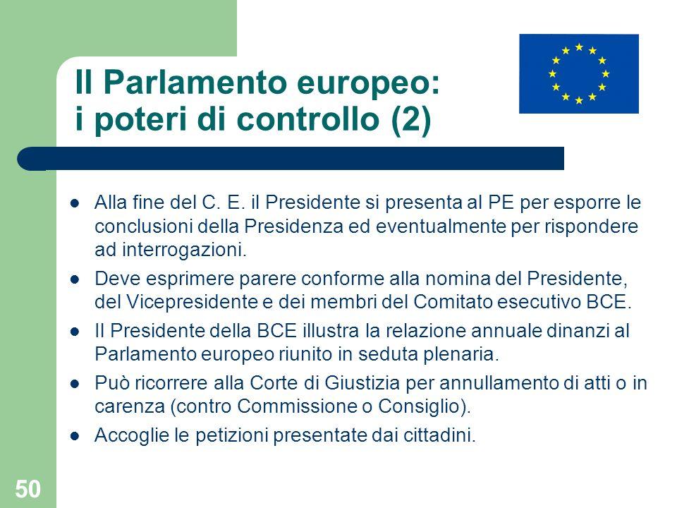 Il Parlamento europeo: i poteri di controllo (2)