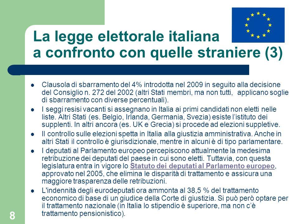 La legge elettorale italiana a confronto con quelle straniere (3)