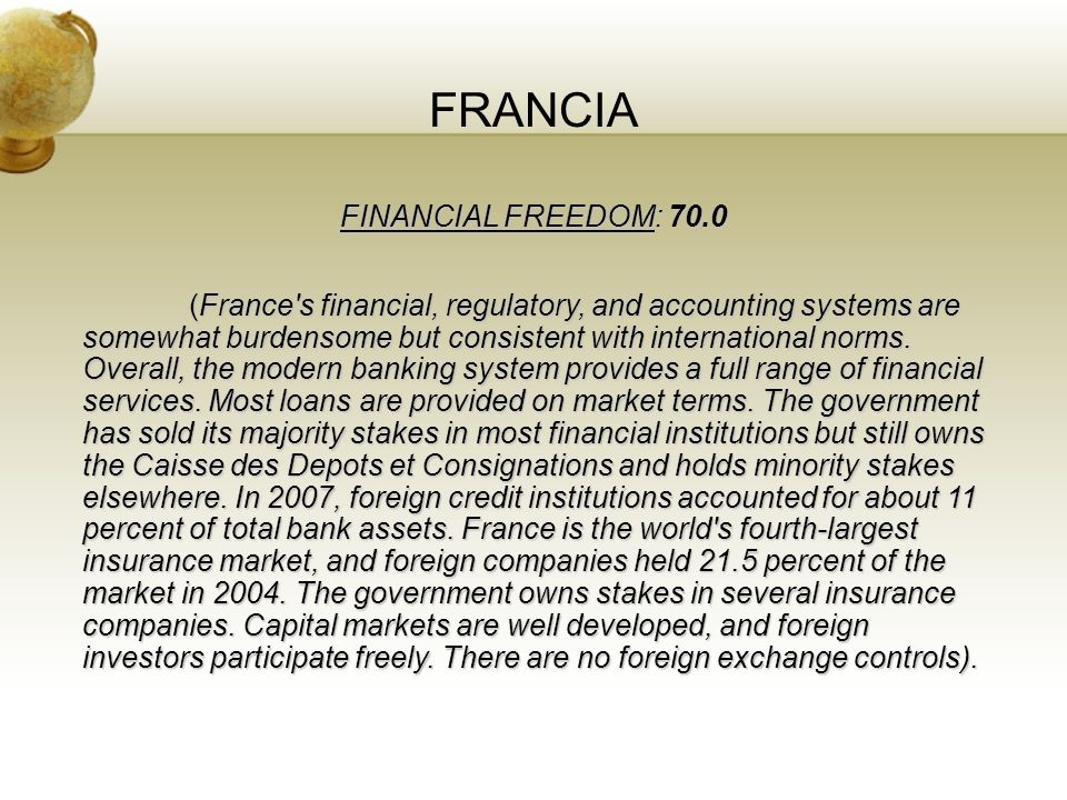 FRANCIA FINANCIAL FREEDOM: 70.0