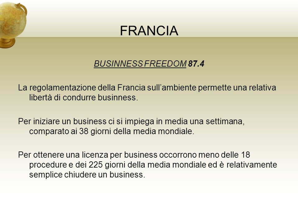 FRANCIA BUSINNESS FREEDOM 87.4