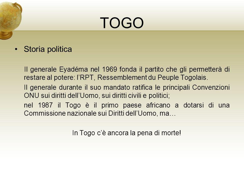 In Togo c'è ancora la pena di morte!