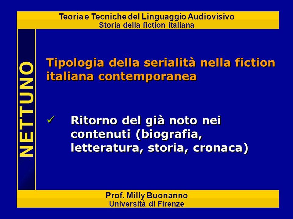 Tipologia della serialità nella fiction italiana contemporanea