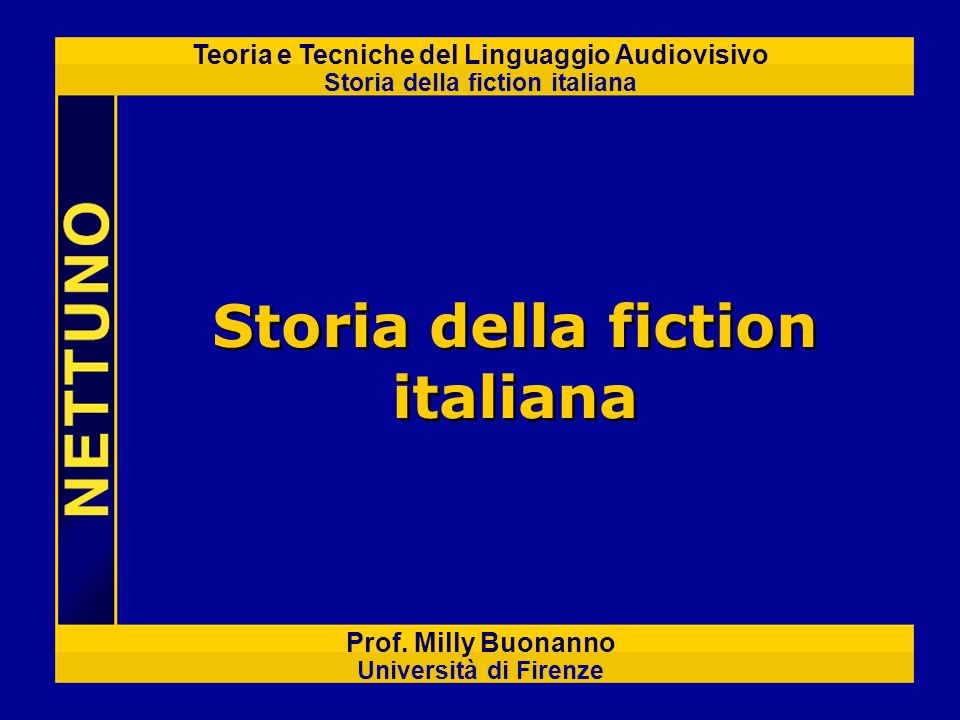 Storia della fiction italiana