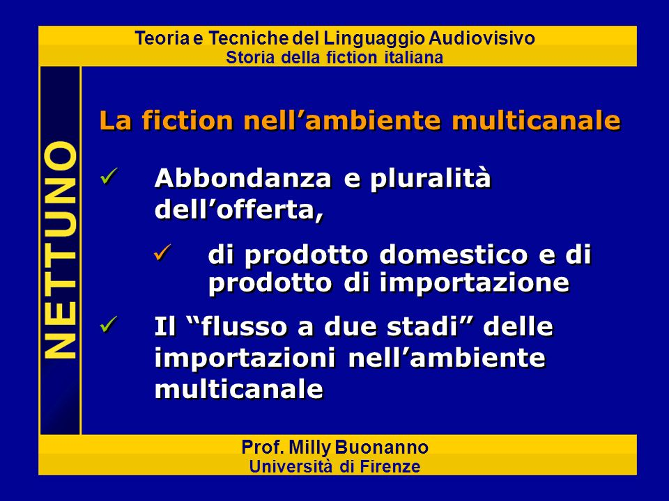 La fiction nell'ambiente multicanale