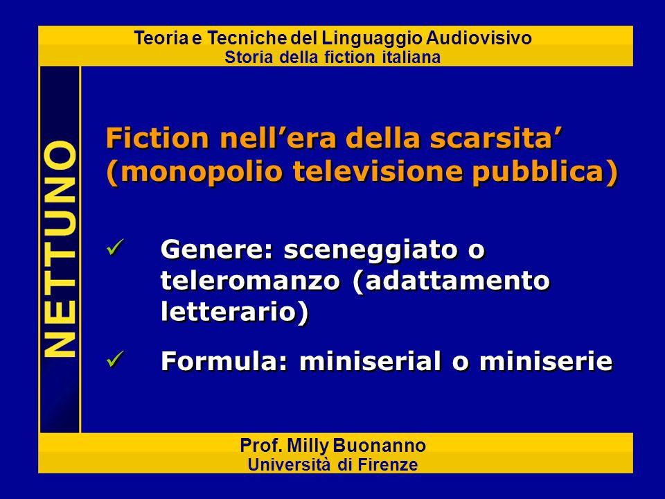 Fiction nell'era della scarsita' (monopolio televisione pubblica)