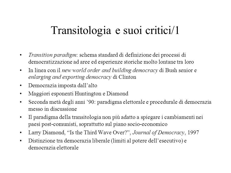 Transitologia e suoi critici/1