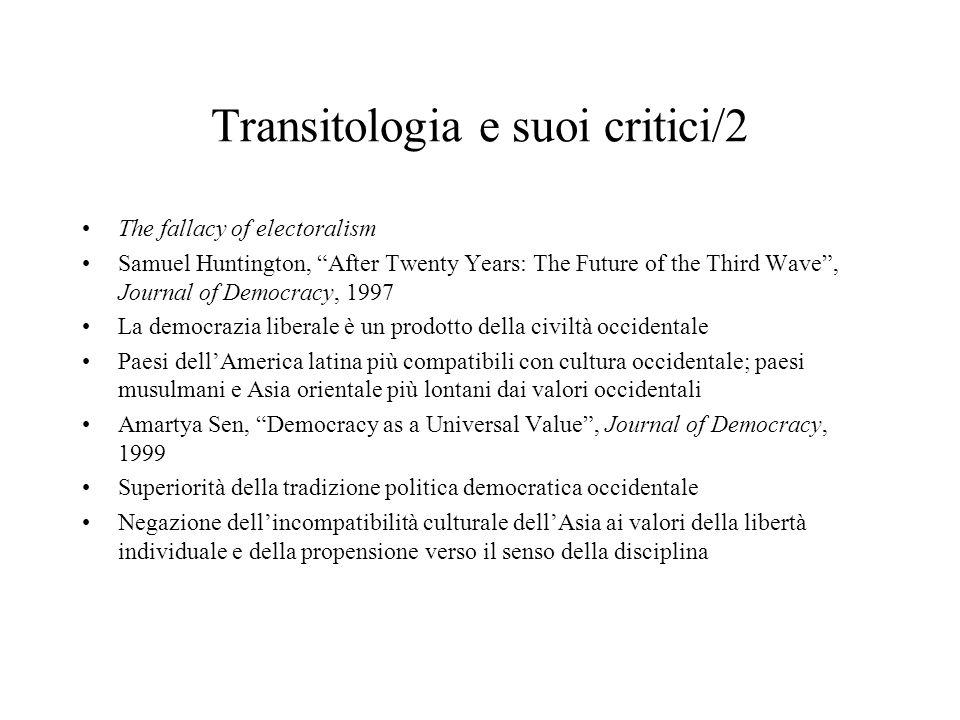 Transitologia e suoi critici/2
