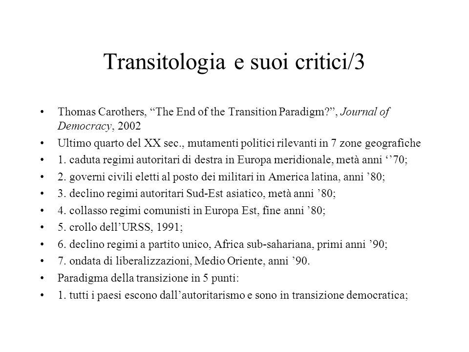 Transitologia e suoi critici/3