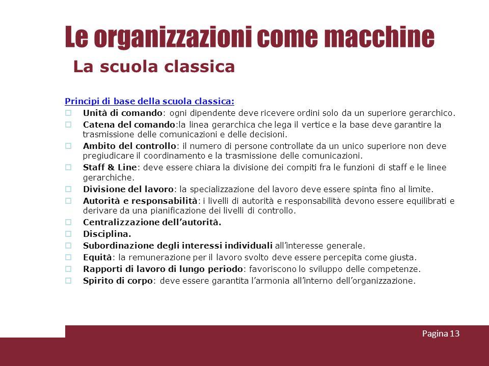 Le organizzazioni come macchine